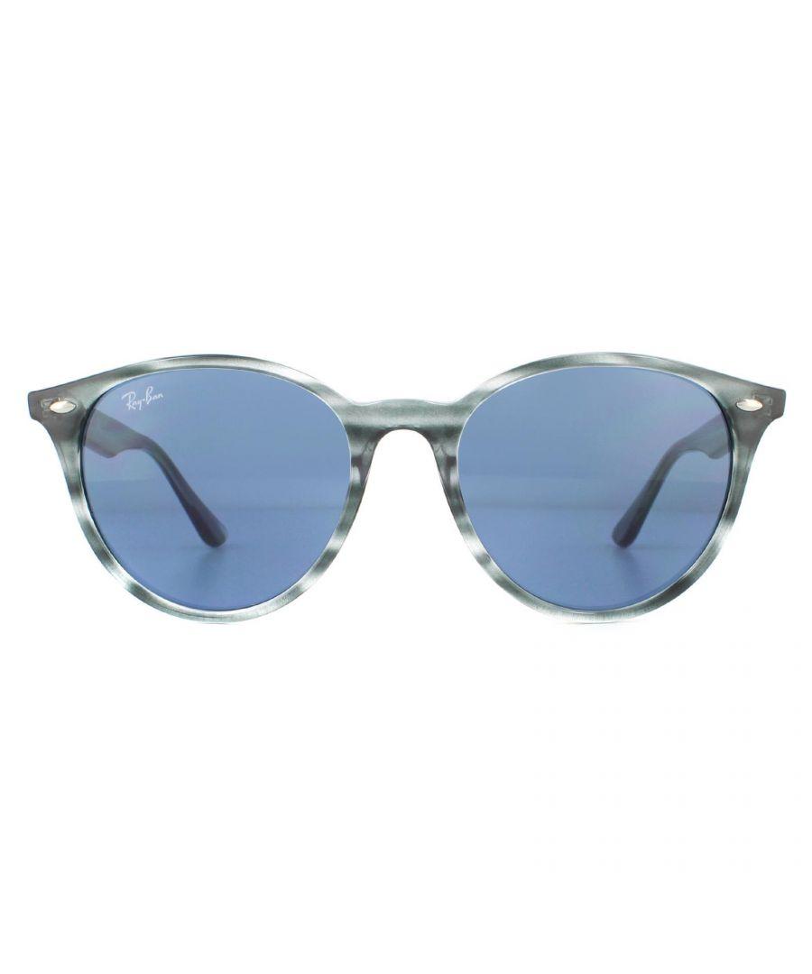Image for Ray-Ban Sunglasses Rb4305 643280 Striped Blue Havana  Dark Blue