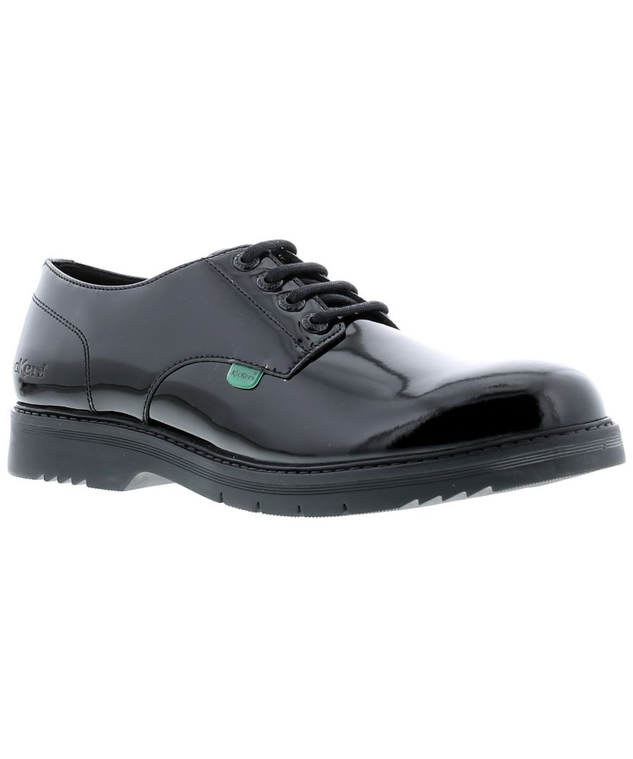 Image for New Ladies Finley Lo, A Derby Silhouette Offering Smart Style In Patent Leather On A New Slimline So