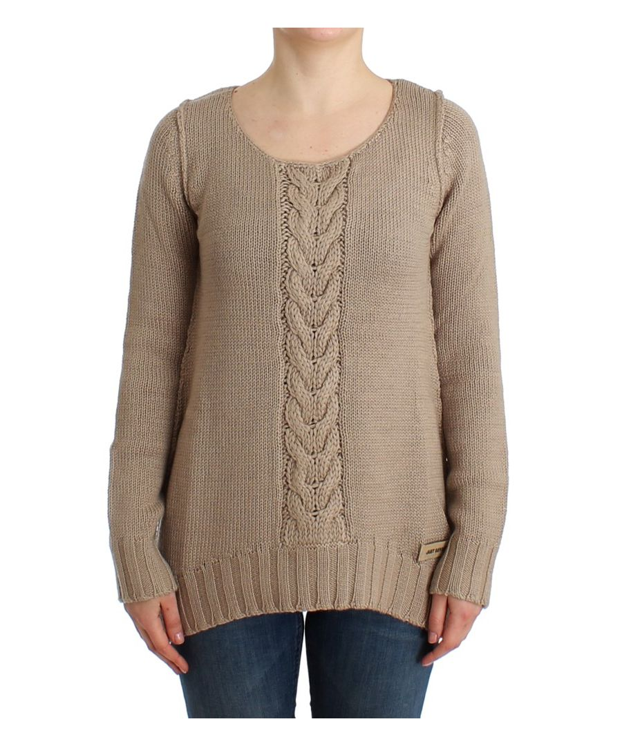 Image for Cavalli Beige knitted wool sweater