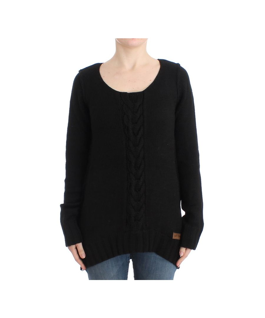 Image for Cavalli Black knitted wool sweater