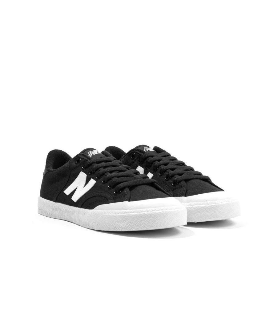 Image for New Balance Pro Court Canvas Trainers - Black