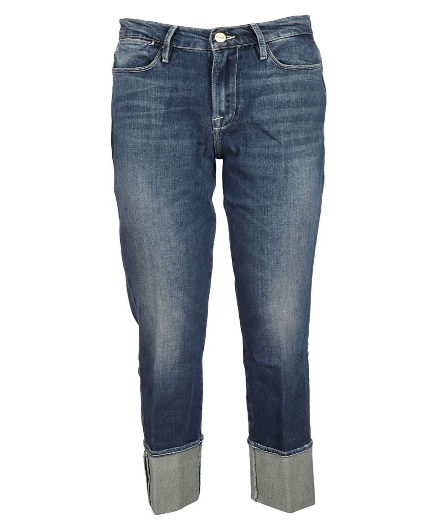 Image for FRAME WOMEN'S LHSTCF415 BLUE COTTON JEANS