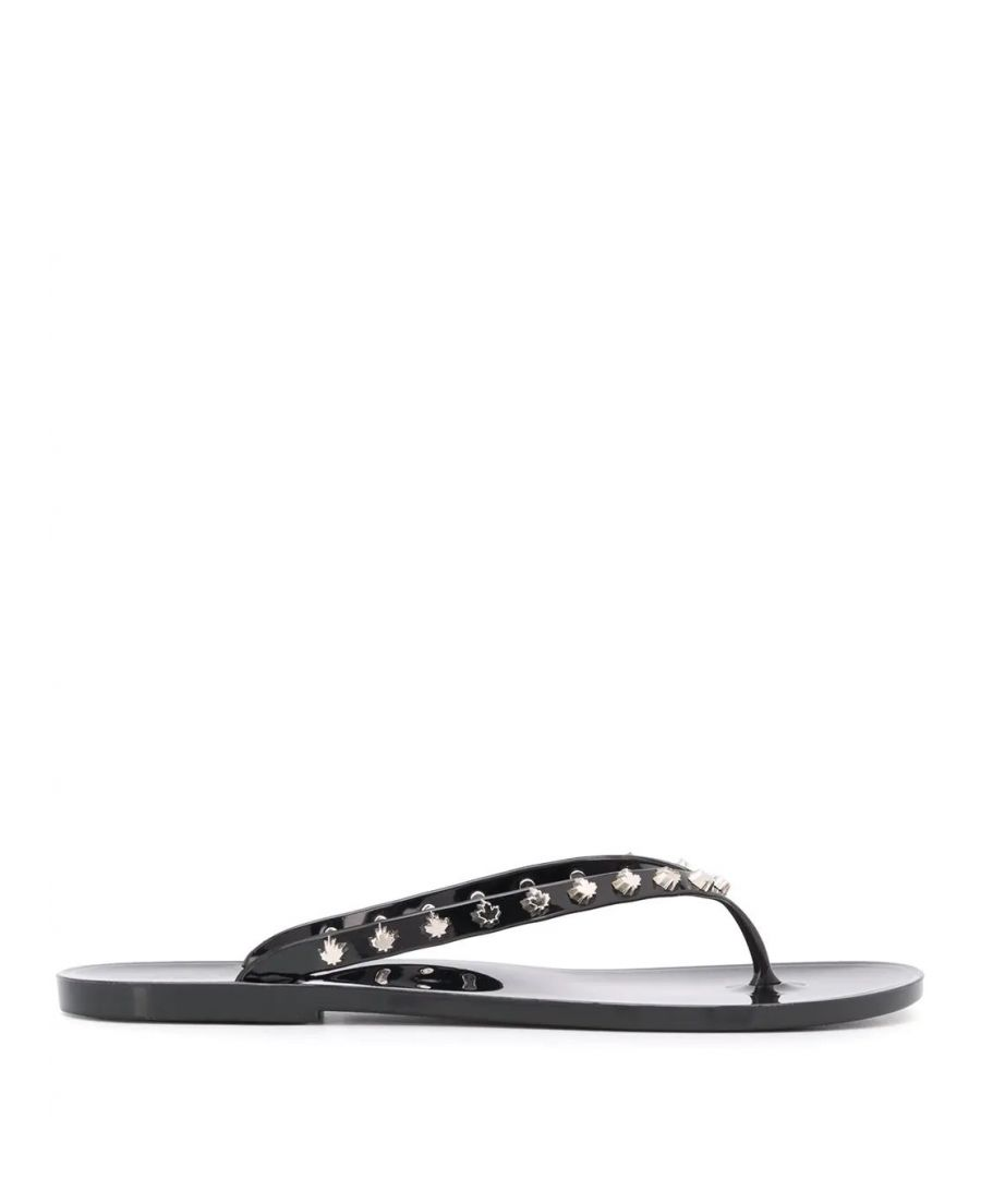 Image for DSQUARED2 WOMEN'S FFW0002358027132124 BLACK PVC FLIP FLOPS