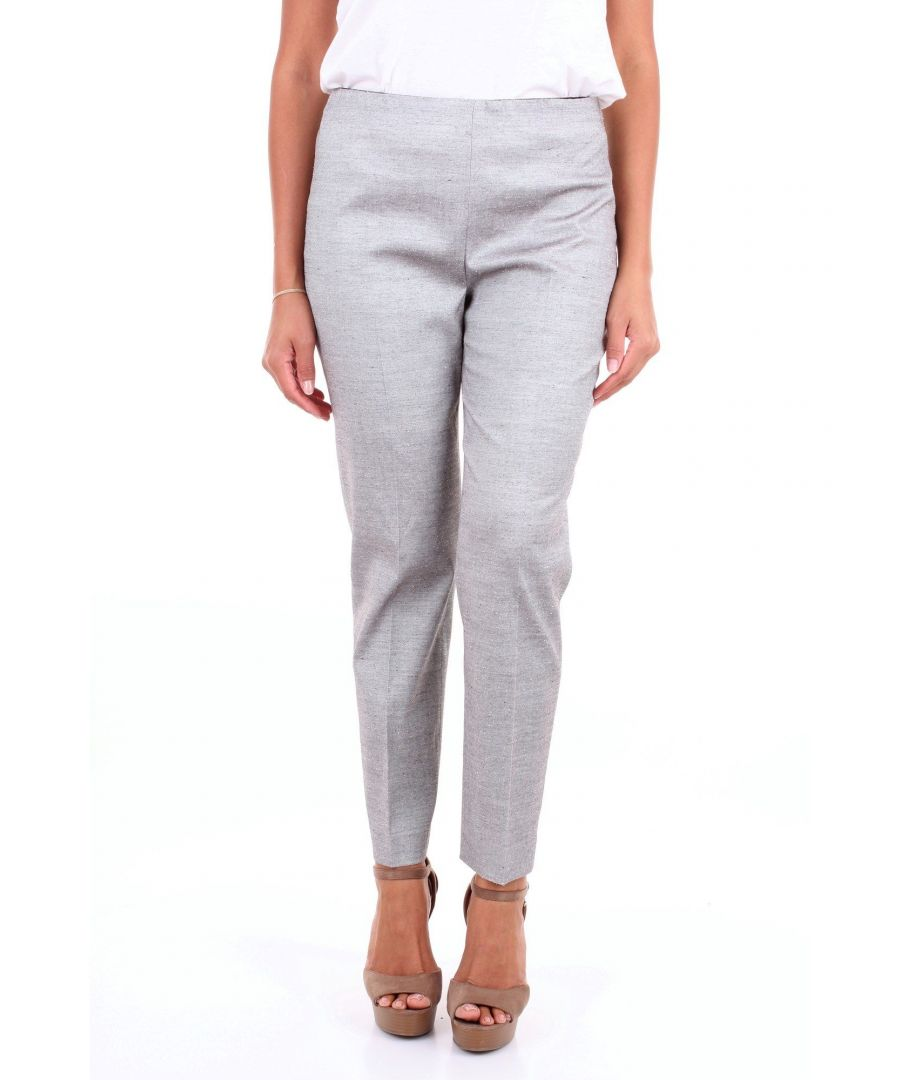 Image for LES COPAINS WOMEN'S 0L3786GREY GREY COTTON PANTS
