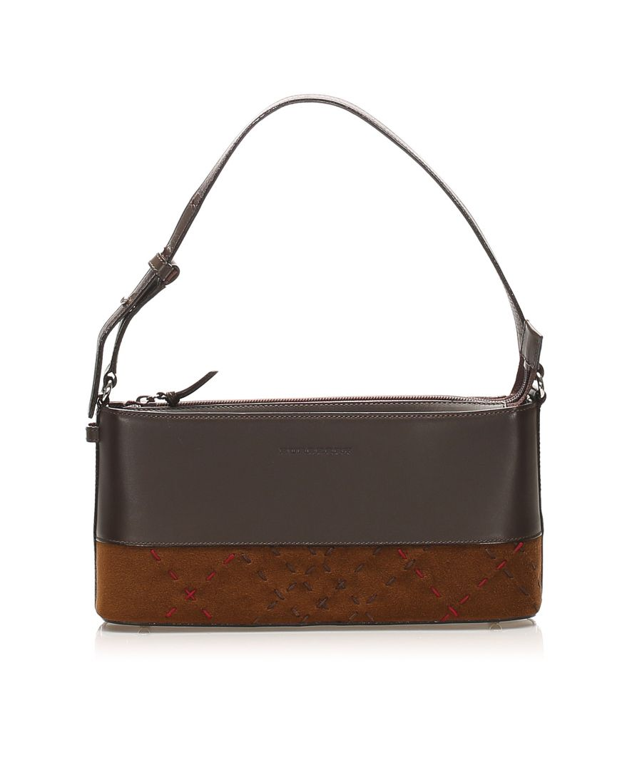 Image for Vintage Burberry Leather Baguette Brown