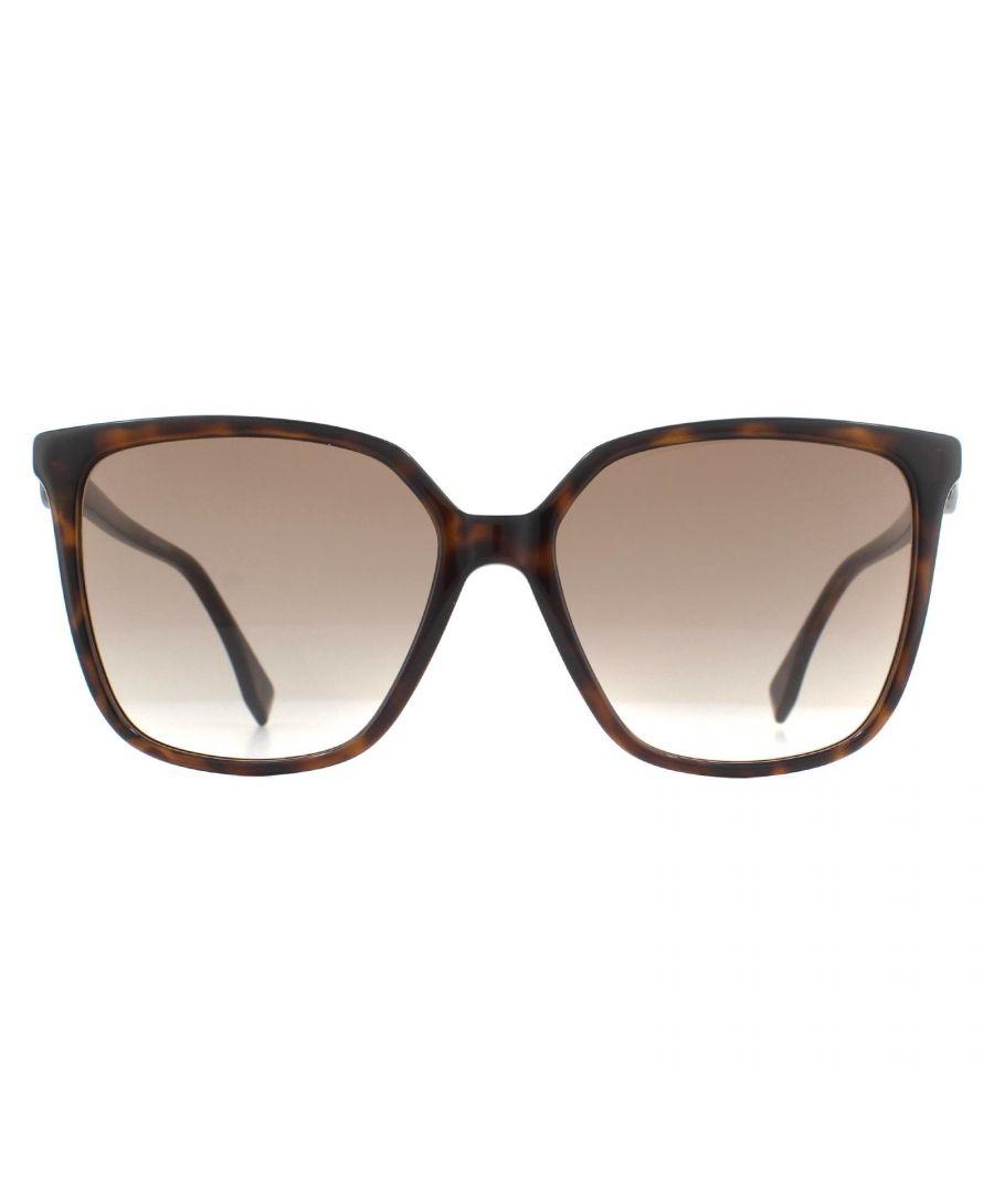 Image for Fendi Sunglasses FF 0318/S 086 HA Dark Havana Brown Gradient