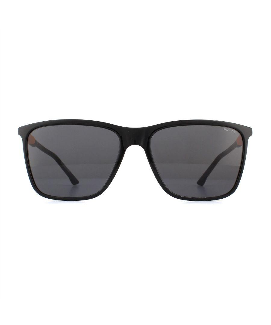 Image for Police Sunglasses SPL716 Storm Light 1 0Z42 Shiny Black Smoke