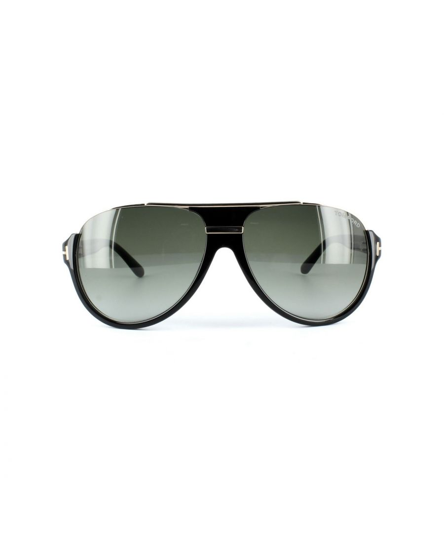 Image for Tom Ford Sunglasses 0334 Dimitry 01P Shiny Black Green Gradient