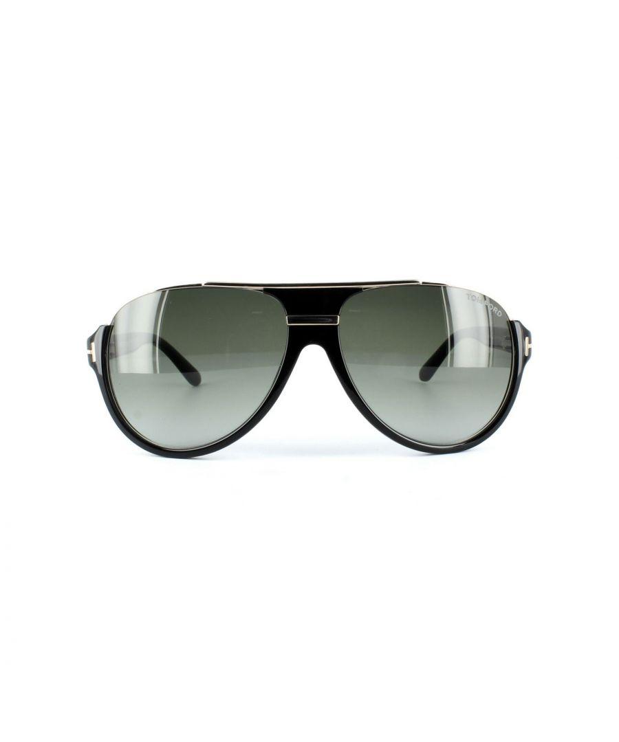 Image for Tom Ford Sunglasses 0334 Dimitry 01P Shiny Black Green Gradient