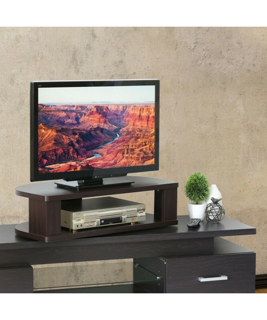 Image for Furinno Indo Swivel Shelf for TV - Espresso