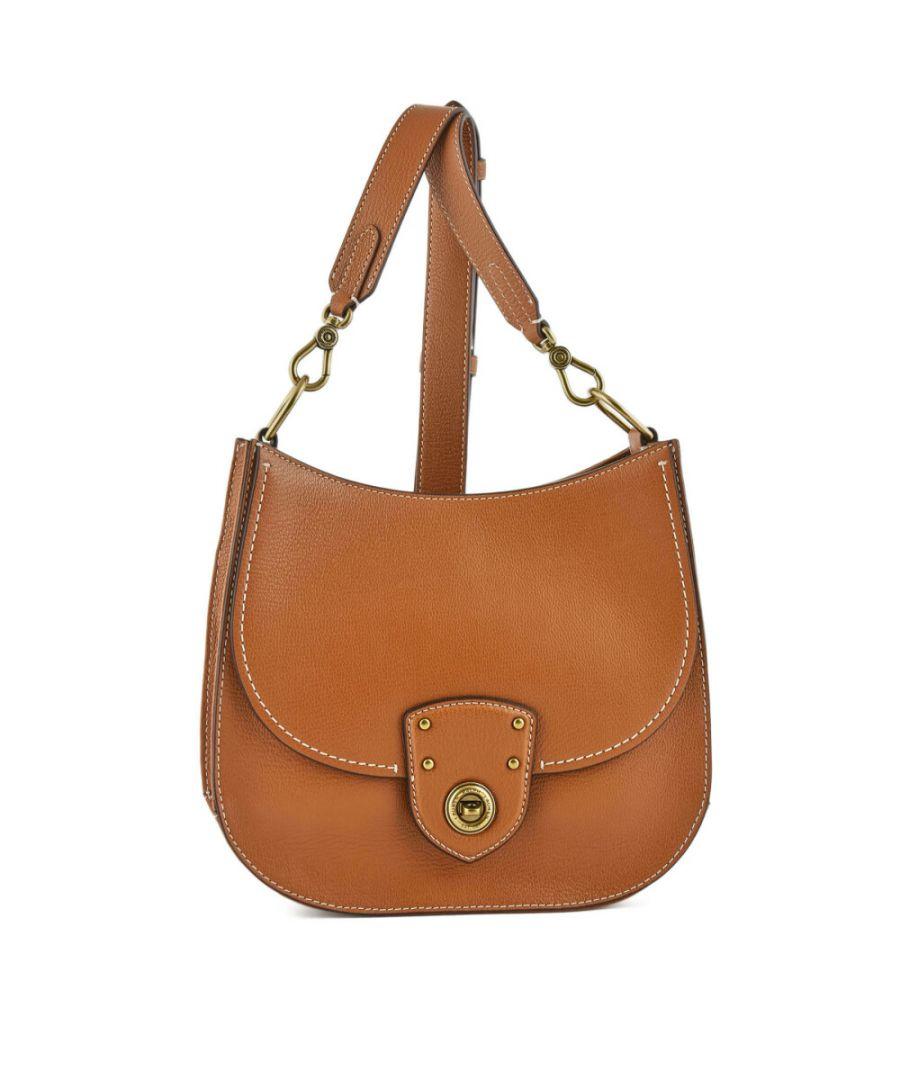 Image for Lauren Ralph Women's Millbrook Leather Crossbody Cross Body Bag - Tan