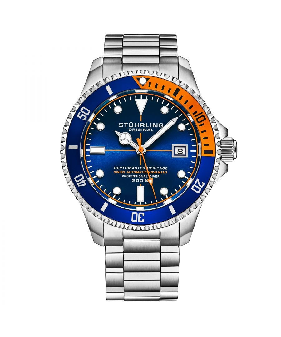 Image for Blue and Orange Swiss Automatic Depthmaster Heritage 42mm Diver
