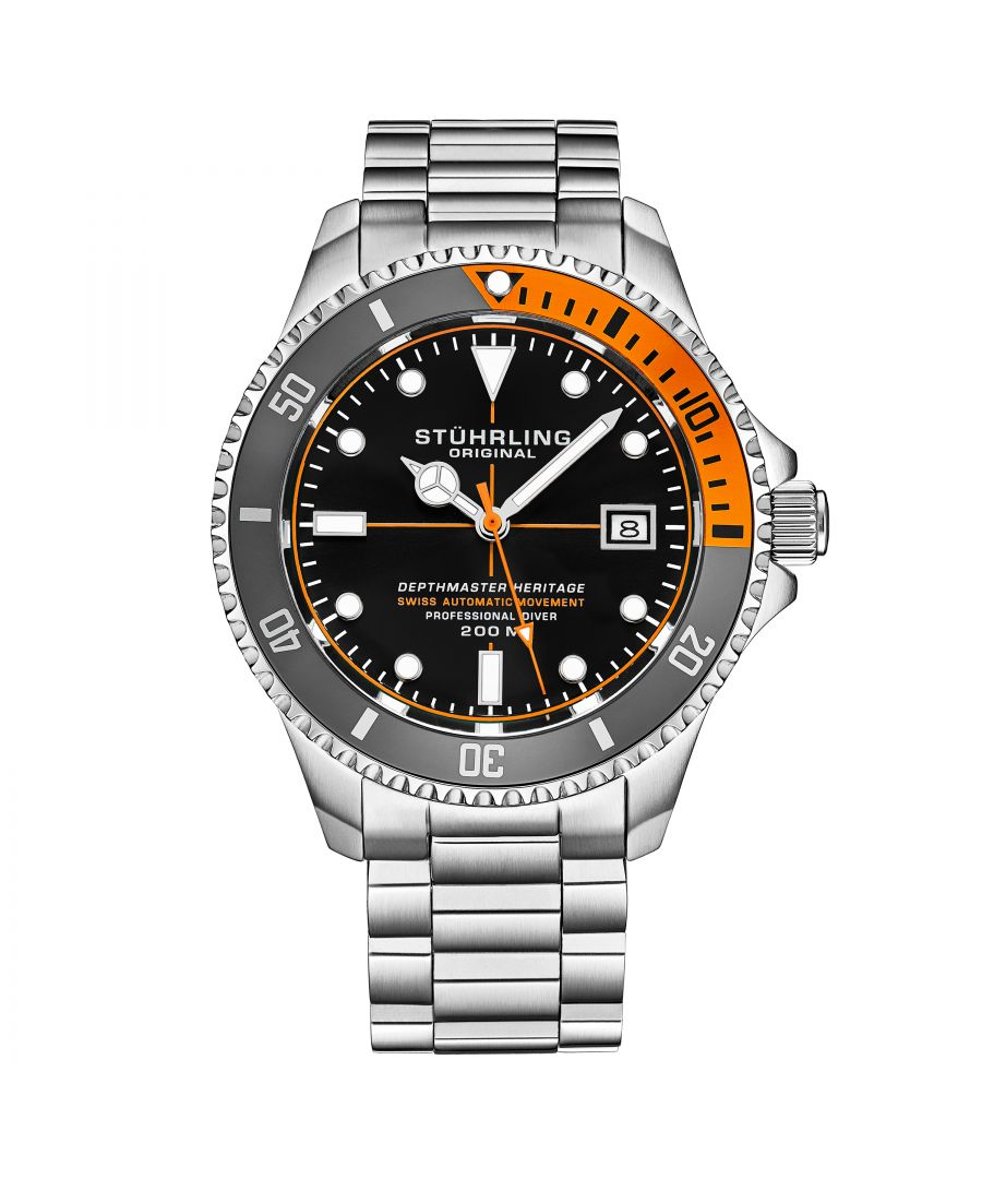 Image for Black and Orange Swiss Automatic Depthmaster Heritage 42mm Diver