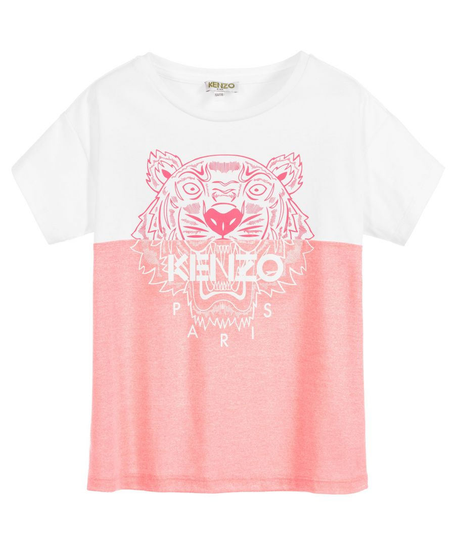 Image for KENZO GIRLS KQ1021834 MULTICOLOR VISCOSE T-SHIRT