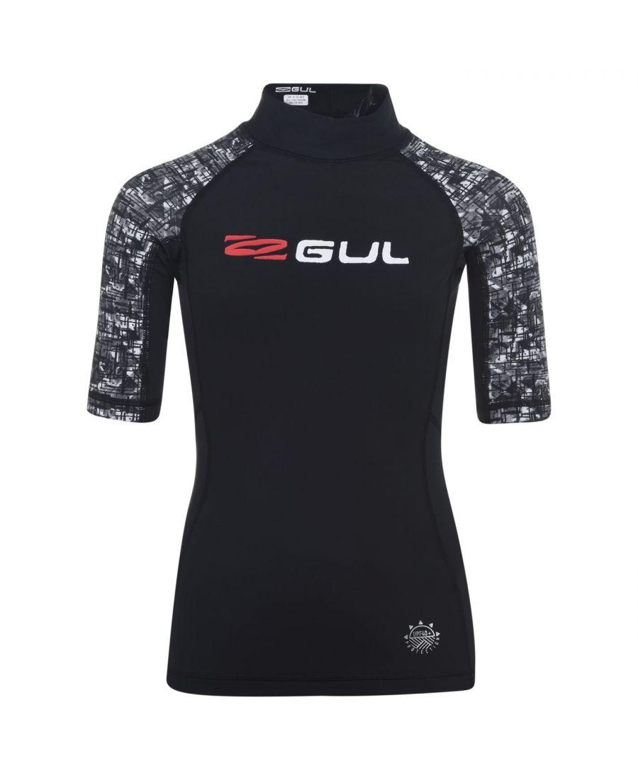 Image for Gul Boys Rash Vest Junior UPF 40+ High Neck Short Sleeves Stretch Fit Top