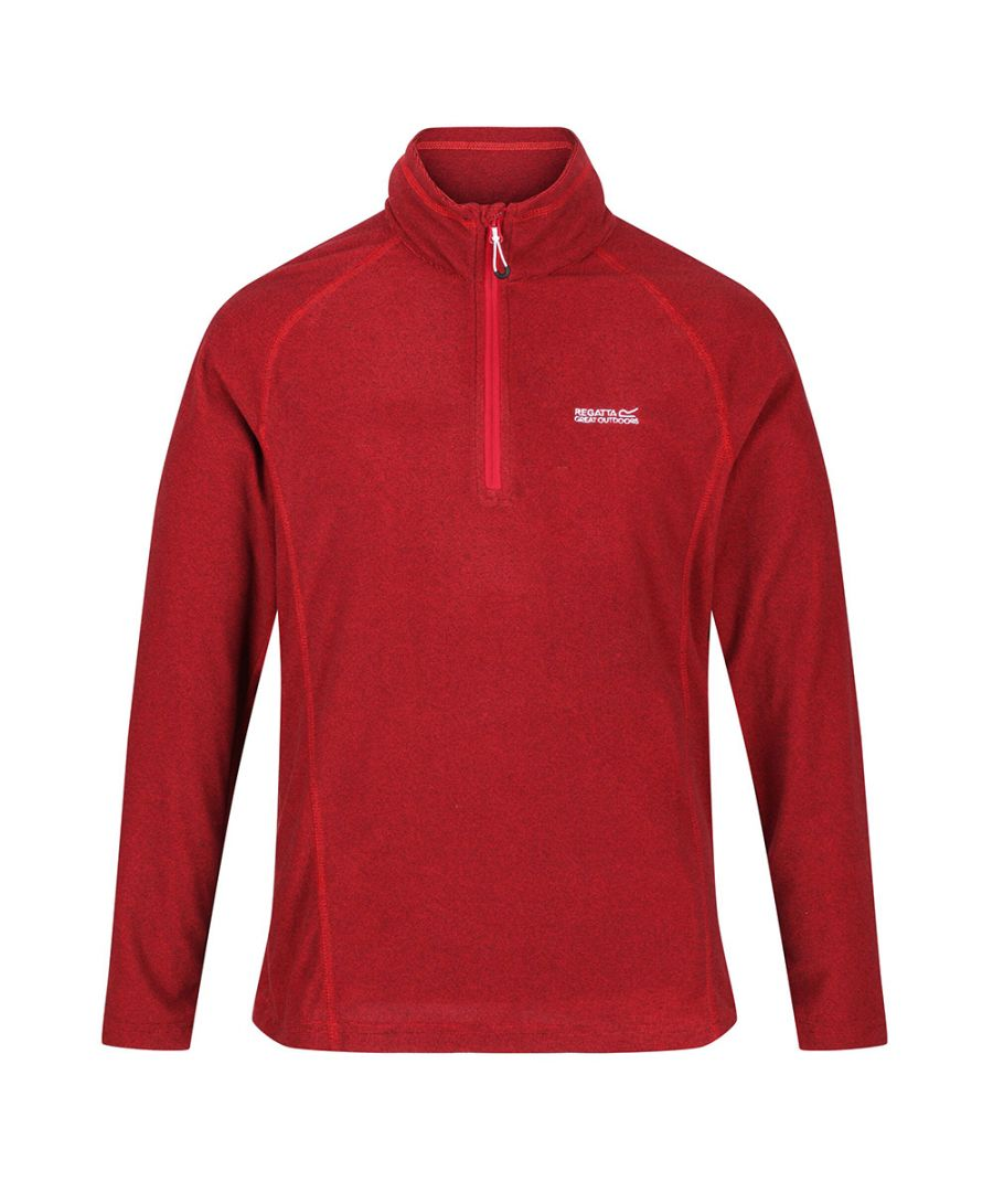 Image for Regatta Mens Montes Lightweight Half Zip Summer Fleece Top