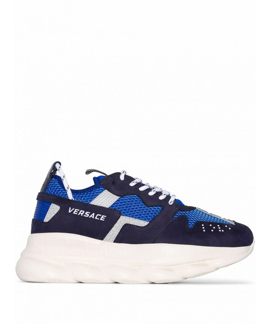 Image for VERSACE MEN'S DSU7462DTP1GKBBG BLUE SYNTHETIC FIBERS SNEAKERS