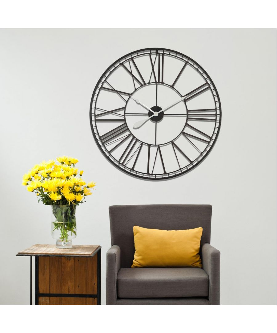 Image for Walplus Roman No. Iron Wall Clock 80cm clock, Bedroom, Living room, Modern, Home office essential, Gift, Oversize Clock