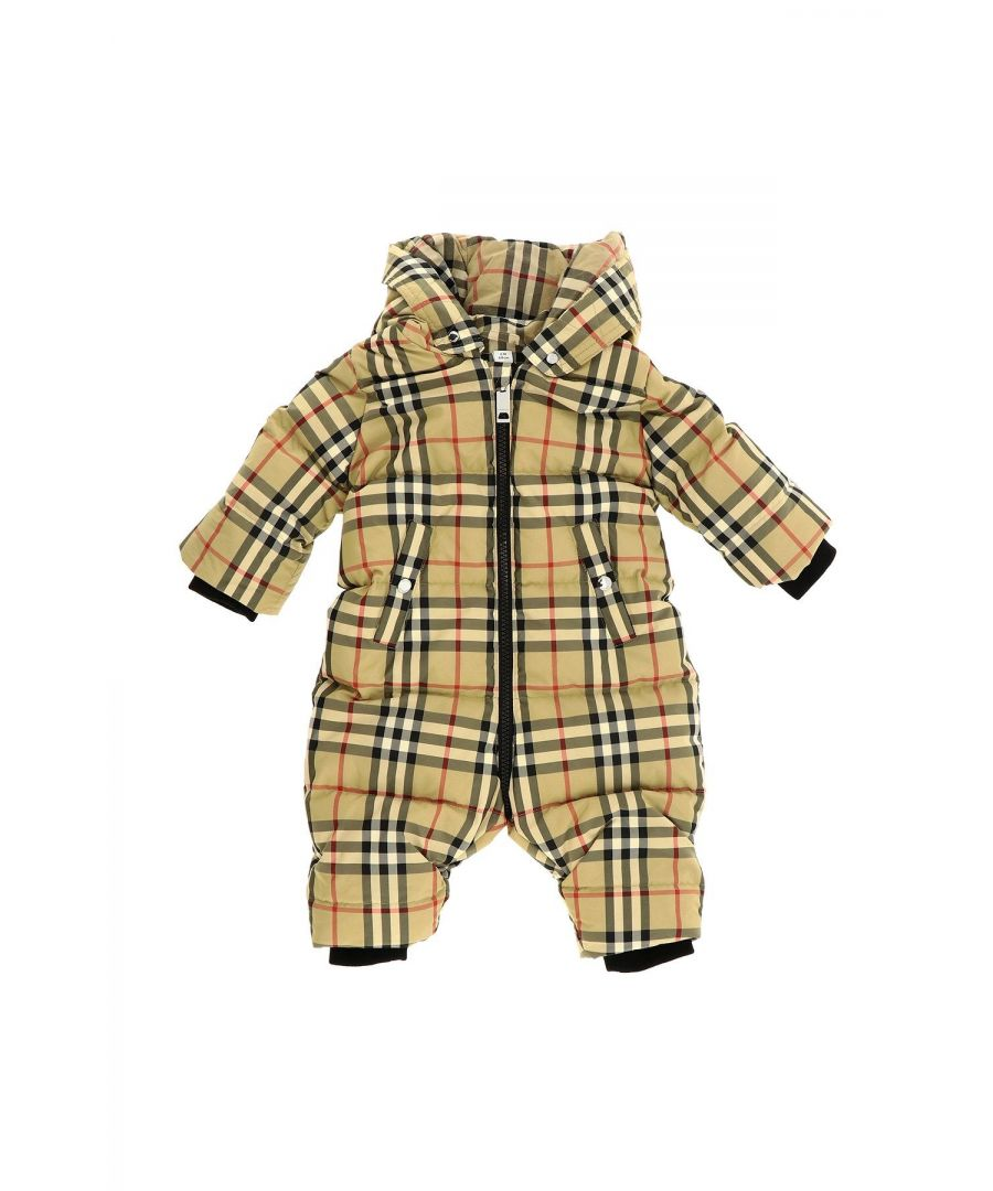 Image for BURBERRY BABY GIRLS 8015255 BEIGE POLYESTER JUMPSUIT