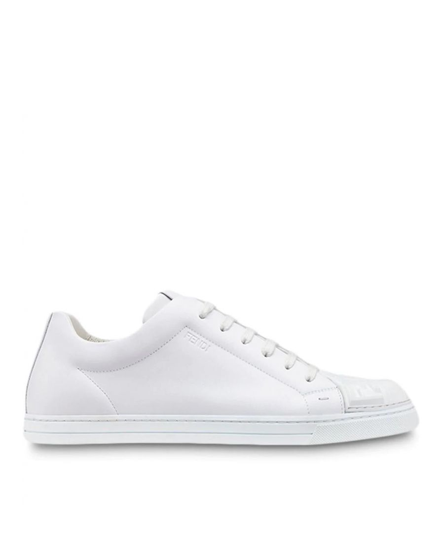 Image for FENDI MEN'S 7E1239A3X6F16HF WHITE LEATHER SNEAKERS