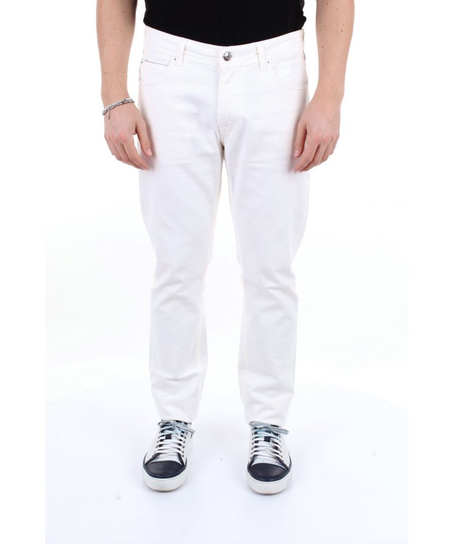Image for BRIGLIA 1949 MEN'S 39502BIANCO WHITE COTTON JEANS