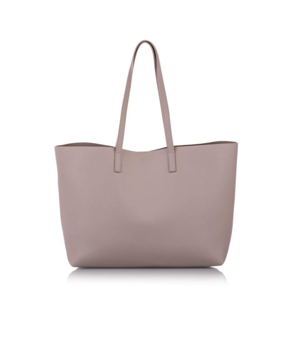 Image for Vintage YSL EastWest Leather Tote Bag Pink