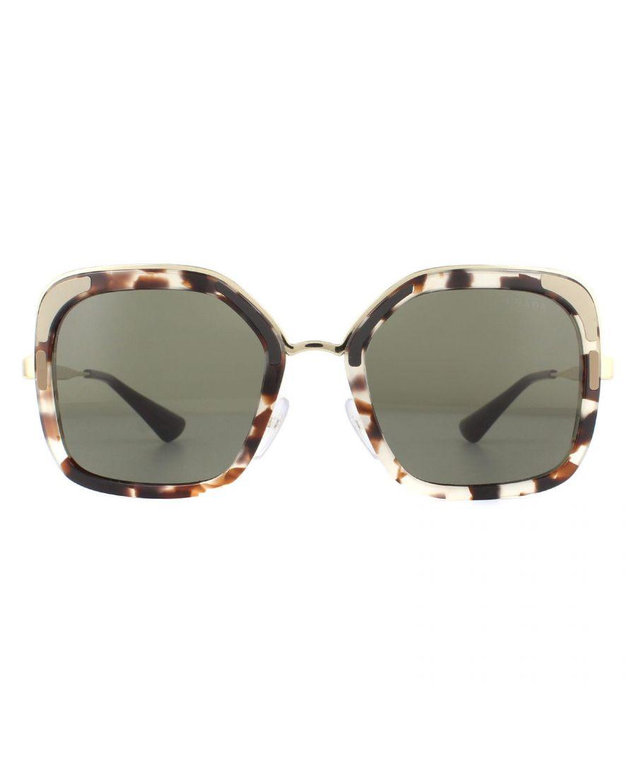 Image for Prada Sunglasses PR57US UAO5S2 Spotted Opal Brown Brown