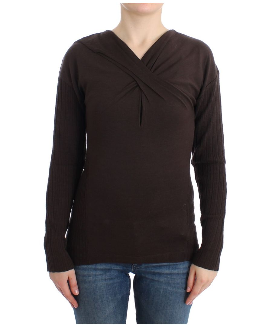 Image for Cavalli Brown knitted wool sweater