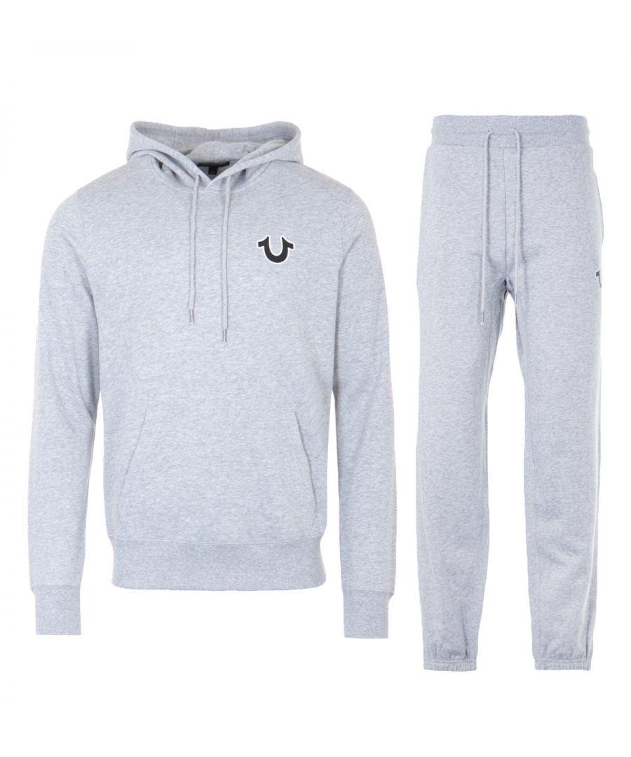 Image for True Religion Sunset Hooded Sweatshirt Tracksuit Set - Heather Grey