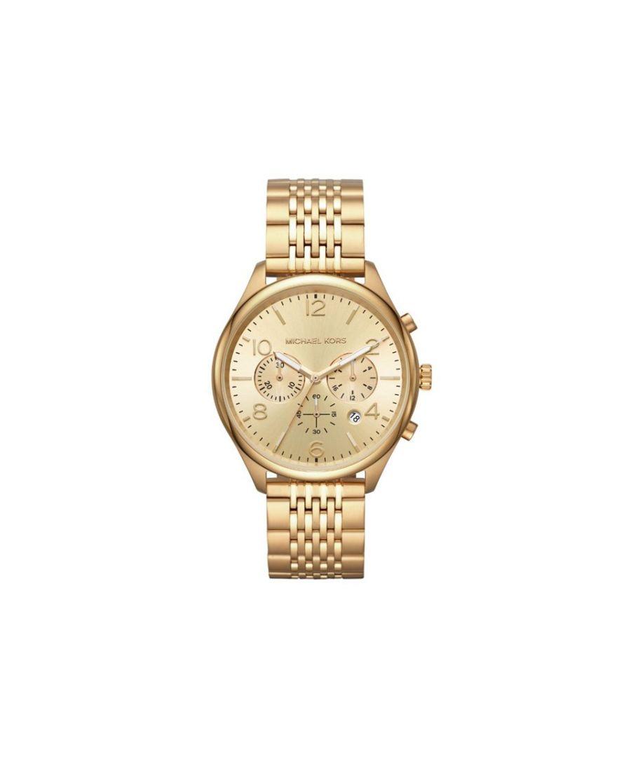 Image for Michael Kors Mens MK8638 Merrick Fancy Gold Tone Chronograph Bracelet Watch
