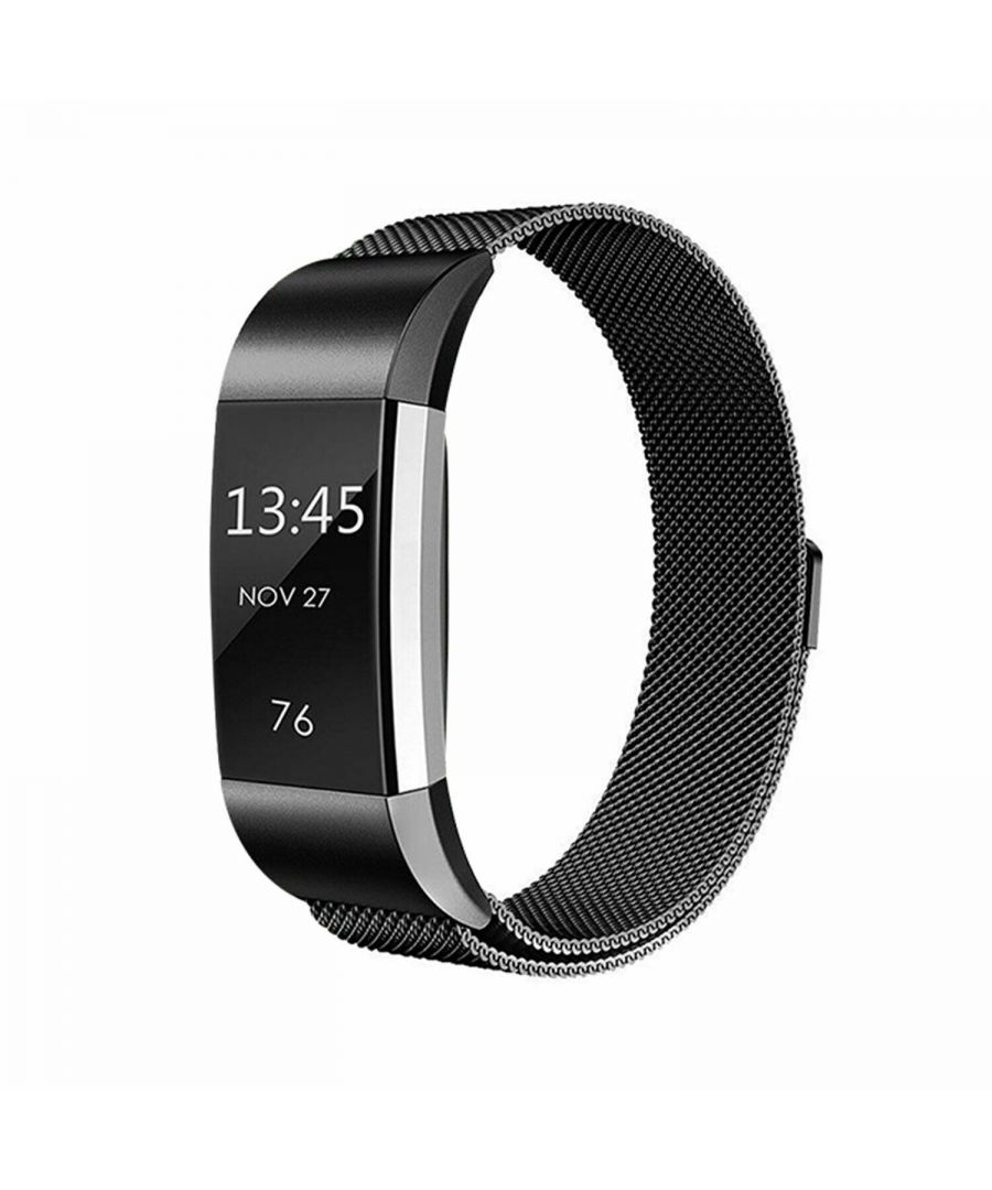 Image for Aquarius Fitbit Charge 2 Milanese Replacement Straps Black