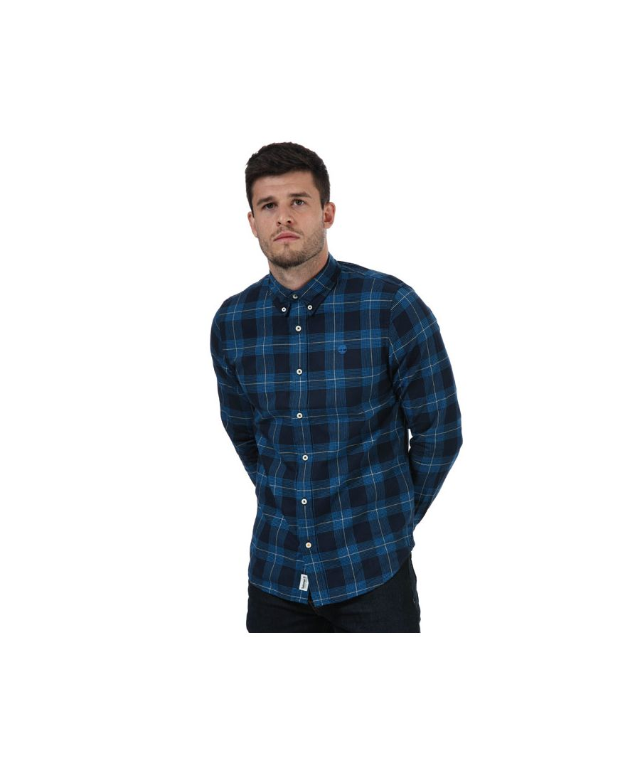 Image for Men's Timberland Herring Hounds Check Shirt in Blue