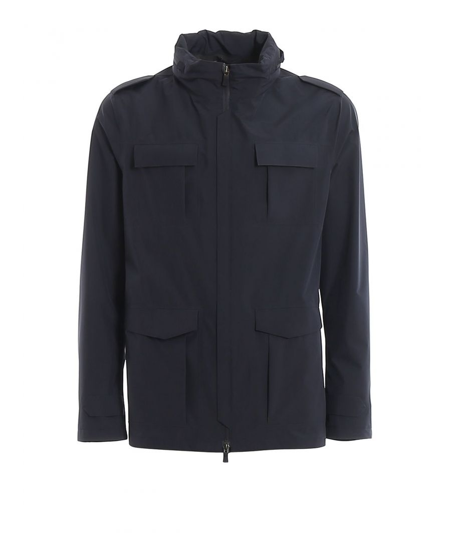 Image for HERNO MEN'S FI007UL111019201 BLUE POLYESTER OUTERWEAR JACKET