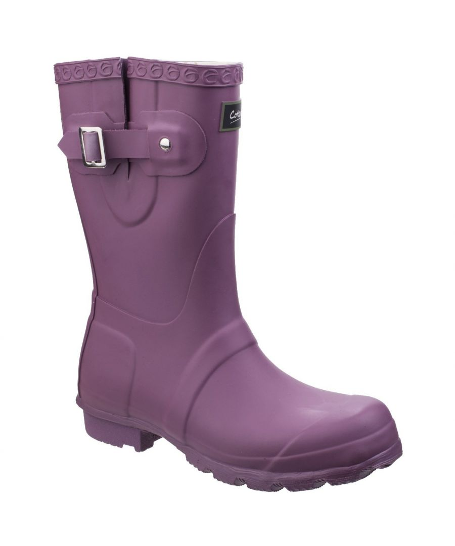 Image for Cotswold Womens/Ladies Windsor Short Waterproof Pull On Wellington Boots (Purple)