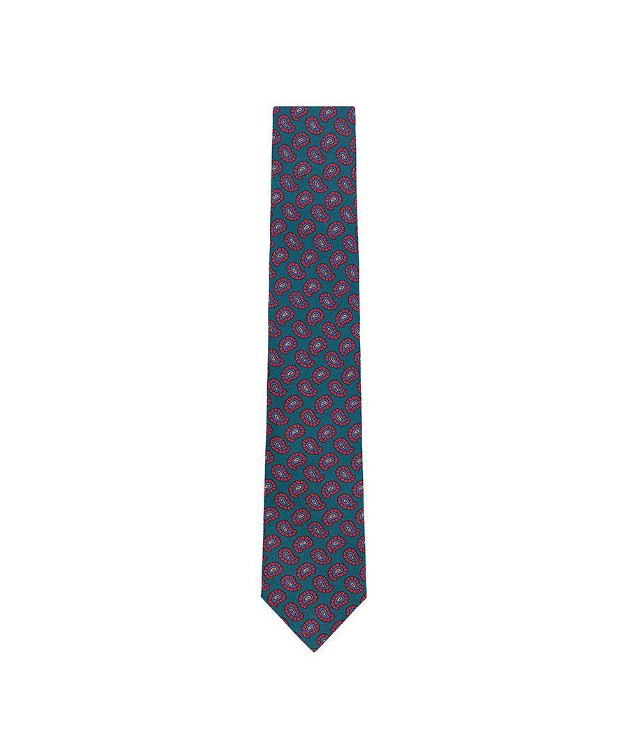 Image for Men's Hackett Vintage Pine Tie in Green