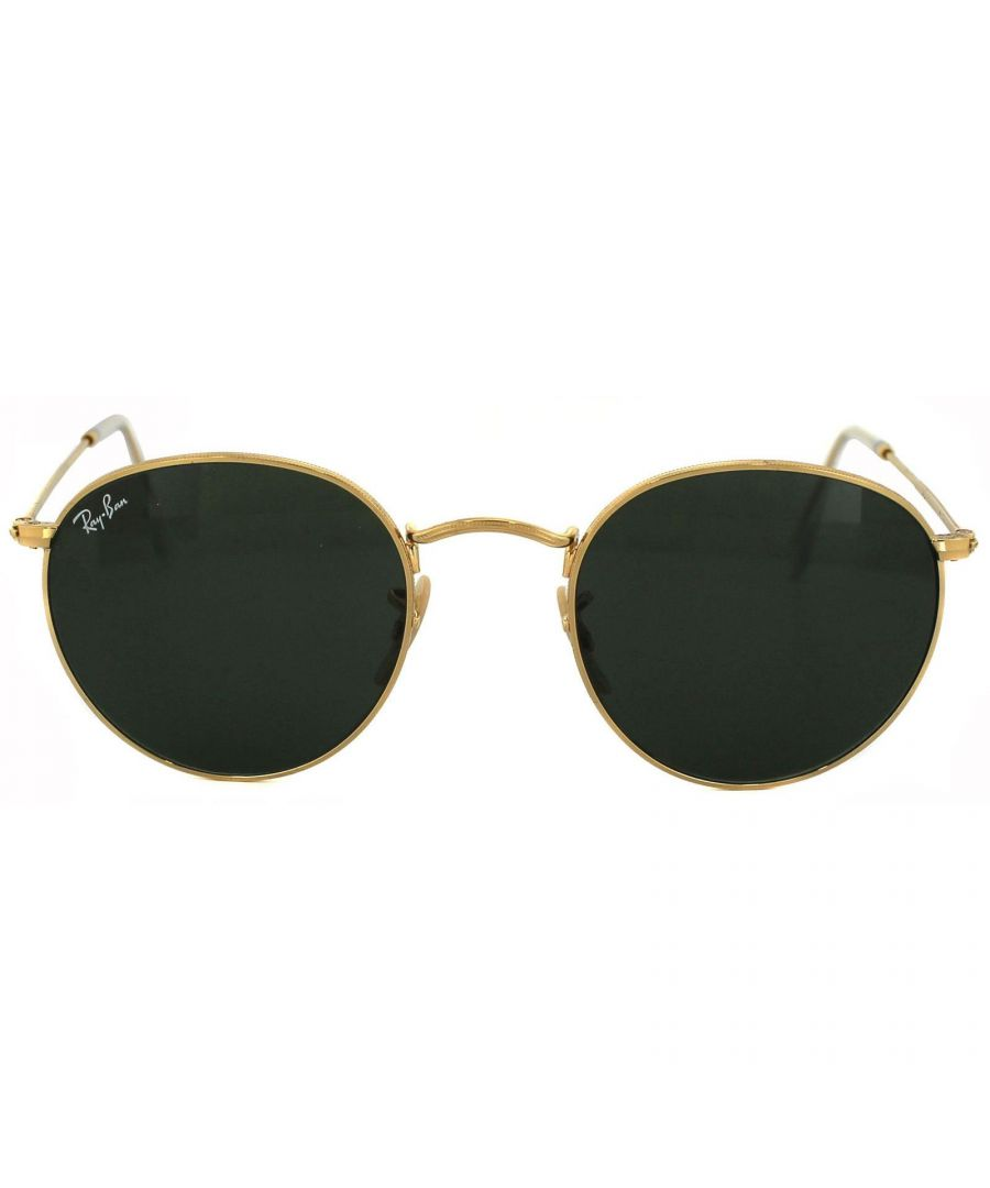 Image for Ray-Ban Sunglasses Round Metal 3447 001 Gold Green 50mm