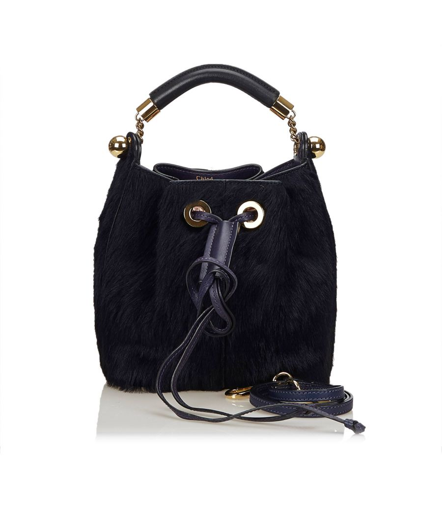 Image for Vintage Chloe Fur Gala Bag Blue