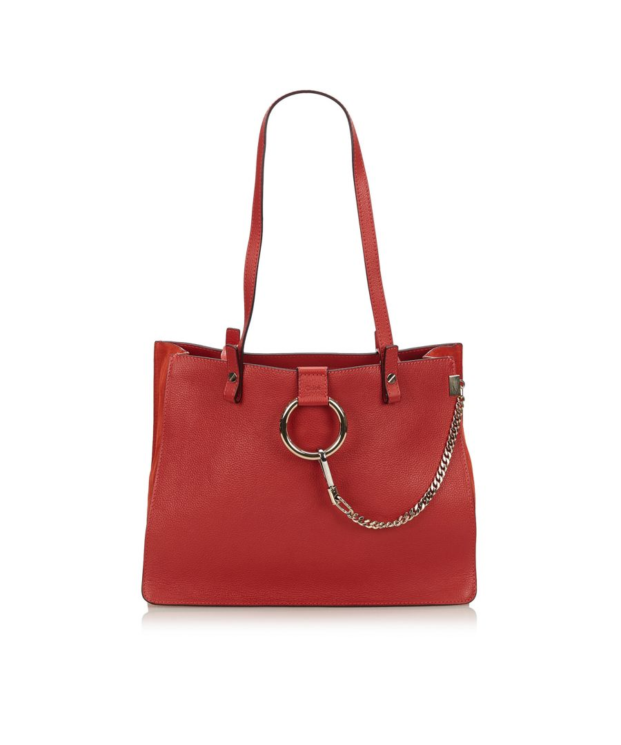 Image for Vintage Chloe Faye Tote Bag Red