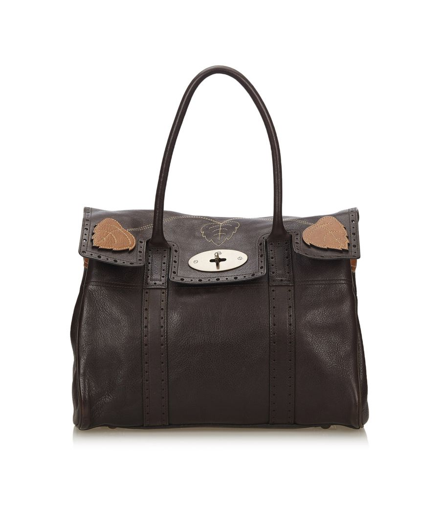 Image for Vintage Mulberry Leather Bayswater Brogue Brown