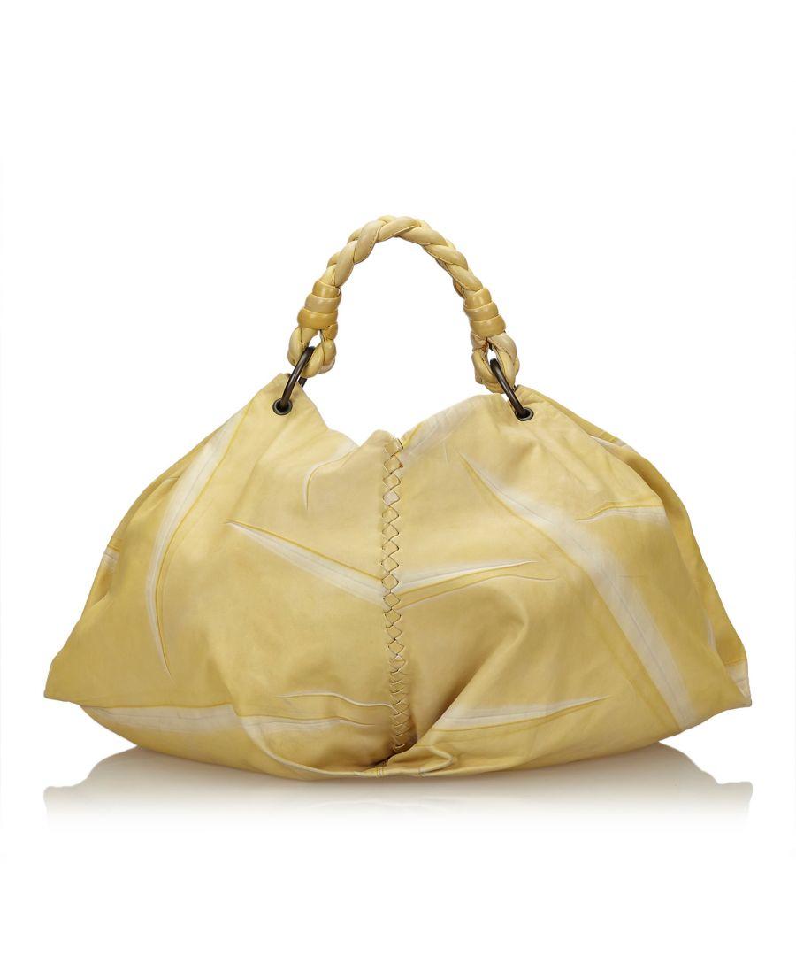 Image for Vintage Bottega Veneta Tie-Dye Aquilone Bag Yellow