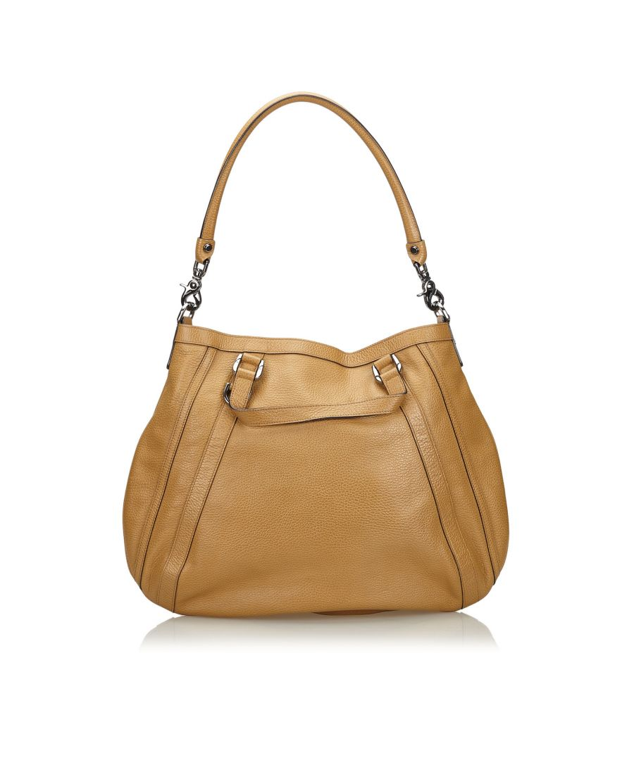 Image for Vintage Gucci Abbey Leather Handbag Brown