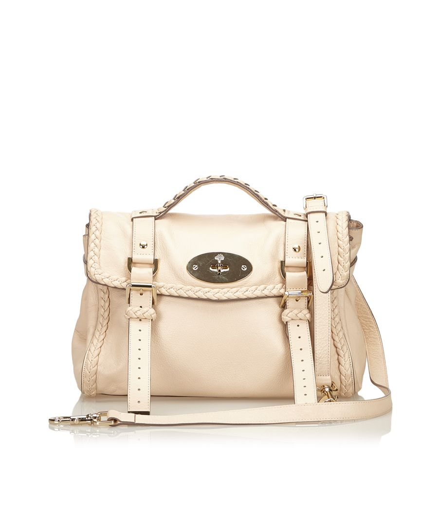 Image for Vintage Mulberry Leather Alexa Satchel White