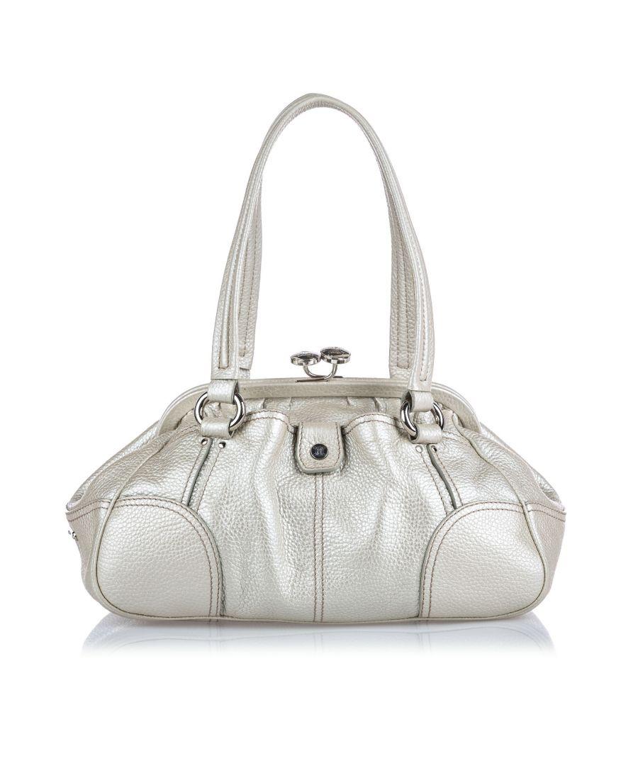 Image for Vintage Celine Leather Shoulder Bag White