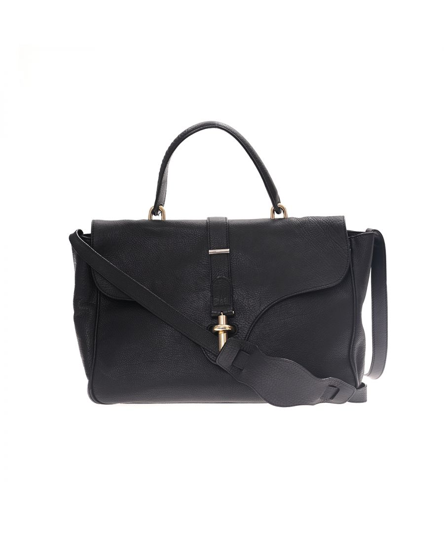 Image for Balenciaga Leather Tube Satchel Black