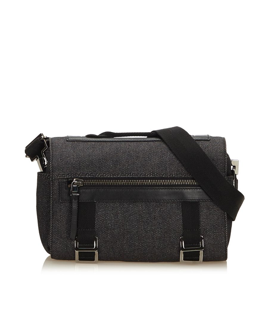 Image for Vintage Gucci Denim Camera Bag Gray