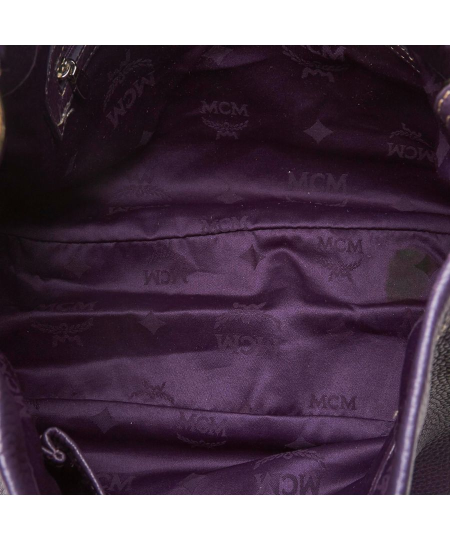 Image for Vintage MCM Leather Hobo Purple