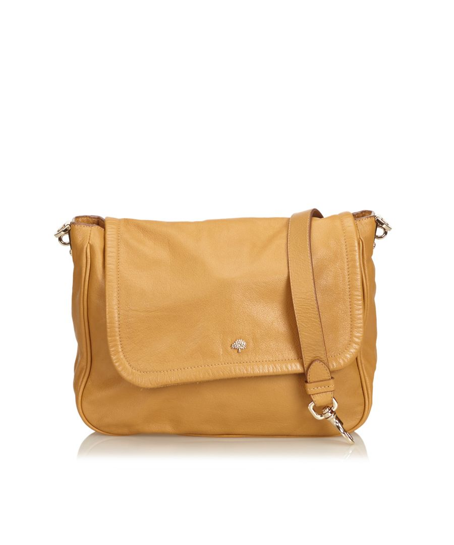 Image for Vintage Mulberry Leather Crossbody Bag Brown