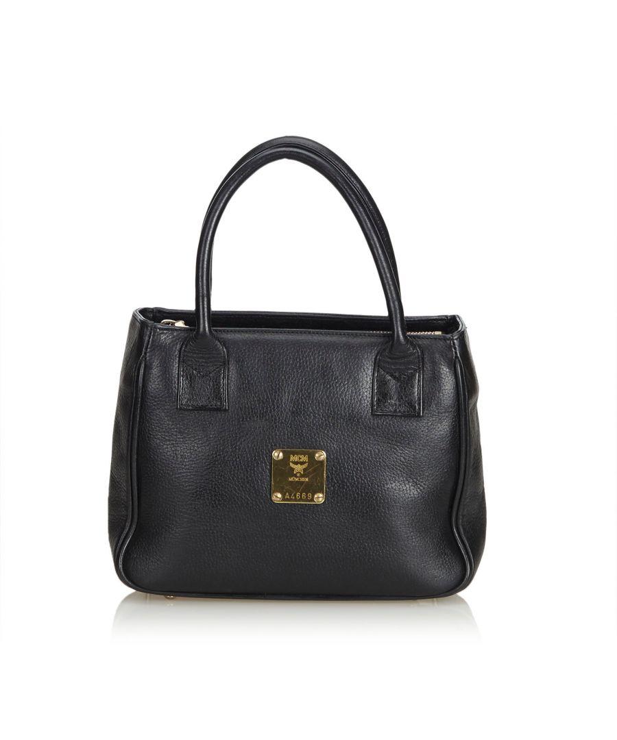 Image for MCM Leather Handbag Black