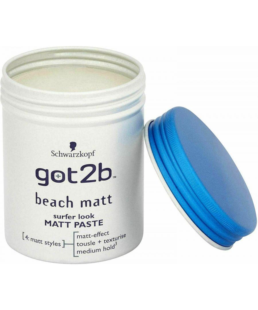 Image for Schwarzkopf got2b Beach Matt Surfer Look Matt Paste 100ml