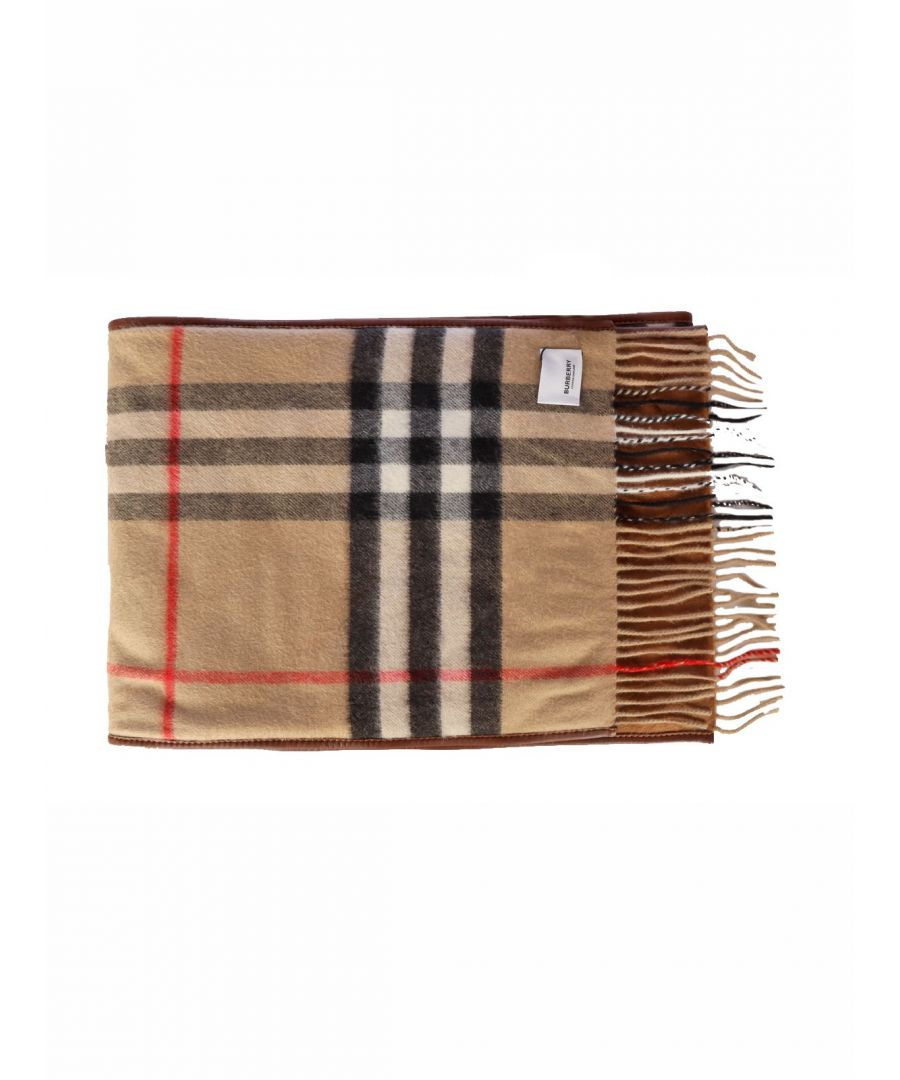 Image for BURBERRY MEN'S 8024510 BROWN CASHMERE FOULARD